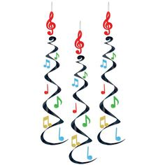 Music Danglers are like long black whirly things with rainbow colored metallic music notes, They are way cool
