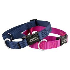 Keep your dog safe and comfortable with our Martingale Dog Collars with Personalized Buckle. Choose your favorite color and personalize yours today!