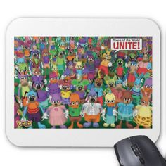 Toontown toons unite Disney Mouse Pad