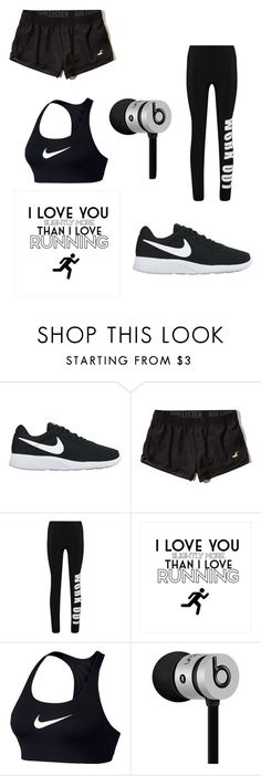 """""""Untitled #12"""" by filippaelvira ❤ liked on Polyvore featuring NIKE, Hollister Co., Boohoo, Beats by Dr. Dre and running"""