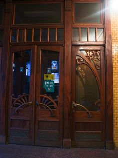 An awesome Art Nouveau door in St. Petersburg