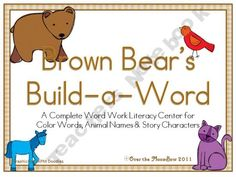 Brown Bear's Build-a-Word Complete Word Work Literacy Center Daily 3 Math, Daily 5 Reading, Kindergarten Literacy, Literacy Centers, Reading Activities, Teaching Reading, Teaching Schools, Teaching Aids, Word Building