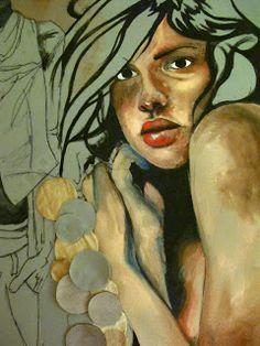 Gouache on unprimed canvas