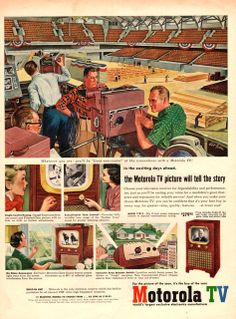 1952 Motorola TV print ad shows television by catchingcanaries, $8.00