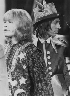 Brian Jones and Charlie Watts at The Rolling Stones Rock  Roll Circus, 1968.
