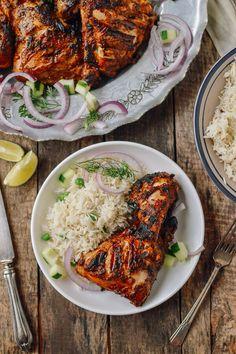 Grilled Tandoori Chicken with Indian-Style Rice, by thewoksoflife.com @thewoksoflife