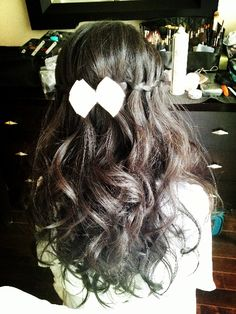 Asian makeup/hair:waterfall braids by sherrybeauty.com