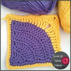 Iced Pie Square Crochet Pattern - Look At What I Made