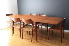 Danish Modern Teak Dining Table by Svend A. Madsen for K. Knudsen