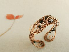 Wire Bracelet  Copper bracelet  Wire jewelry  by UrsulaJewelry, $106.00