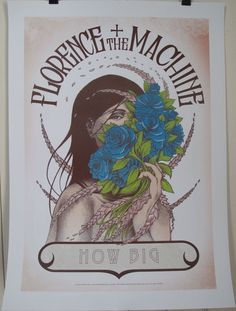 FLORENCE AND THE MACHINE How Big How Blue How Beautiful TOUR POSTER Lithograph