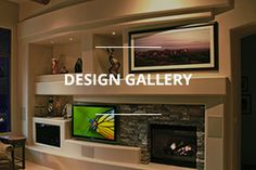 Wherever your imagination takes you — our design inspiration gallery shows you just what's possible in custom home entertainment center & media wall design.