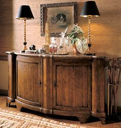 CENTURY TOWN AND COUNTRY SOMERSET MARBLE TOP CREDENZA - MADE IN THE USA