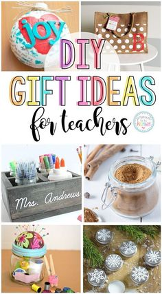 Here are 16 DIY holiday gifts for teachers. These homemade teacher gifts are simple and cheap to make. Great ideas for Christmas, Teacher Appreciation Day, or end of the year thank you gifts from students, parents, or colleagues! # DIY Gifts for teachers Diy Holiday Gifts, Teacher Christmas Gifts, Christmas Diy, Holiday Fun, Homemade Teacher Gifts, Teacher Gifts Cheap, Diy Gifts Cheap, Gifts For Colleagues, Teacher Presents
