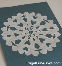 How to Cut and Fold Awesome Paper Snowflakes