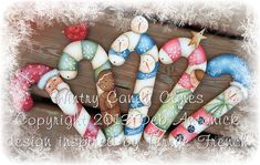 Winter Candy Canes by Deb Antonick por PaintingWithFriends en Etsy