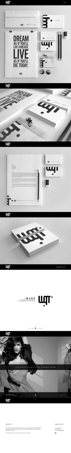 WGNR #branding by Tomasz Wagner , via Behance