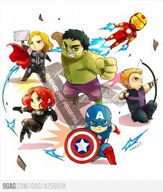 No one does adorably BAMF like the Avengers. No one.