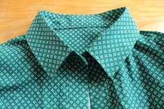 Sewing a shirt collar in a different order for the Grainline Studio Archer