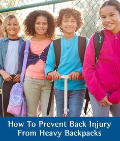 Parenting Advice: Prevent backpack back pain this school year with these 7 helpful tips. Tips for teachers.