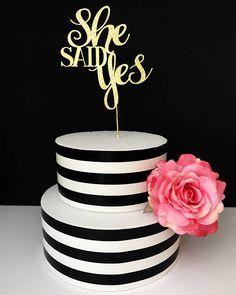 She said yes cake topper bridal shower cake topper