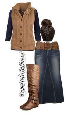 Apostolic Fashions #1015 by apostolicfashions on Polyvore featuring Fat Face, Nature Breeze, Angel Ranch, women's clothing, women's fashion, women, female, woman, misses and juniors