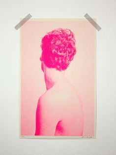 Figure No. 1 Risograph Print - 10 x 16 image on 11 x 17 paper - Printed with FLUORESCENT PINK soy-based ink - Natural cougar vellum 70 lb. paper - Edition of 50 - Signed and numbered by the artist Design Art, Print Design, Neon Design, Foto Art, Jolie Photo, Art Graphique, Pink Aesthetic, Art Inspo, Screen Printing