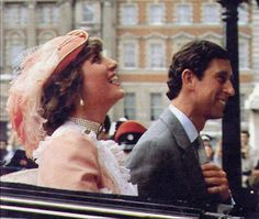July 29, 1981: Prince Charles & Princess Diana leave Buckingham Palace for Waterloo and board the train.