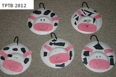 Driving My Tractor, Cow in the Cabbage Patch - Paper Plate Cows