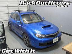 Subaru WRX STI HatchBack Thule Rapid Podium BLACK AeroBlade Roof Rack '08-'13*