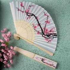 Featured on this page are mainly folding paper fans with a painting or design for decoration. It is like having a painting or a printed art piece...