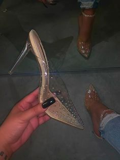 Fancy Shoes, Cute Shoes, Me Too Shoes, High Heel Boots, Heeled Boots, High Heels, White Bridal Shoes, Clear Heels, Everyday Shoes