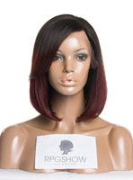 Full Lace Wigs|Lace Front Wigs|Lace Wigs @ RPGSHOW Stock Ombre BOB Haircut Full Lace Wig - QB002-s [QB002] - Real product photo info: hair color: #2/Red hair length: 10