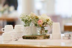 Hochzeit Tischdeko Vintage mint-rose Wedding