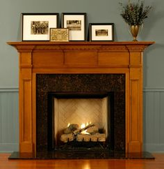 Custom Wood Fireplace Surrounds | San Sebastian Mantel Surround Custom