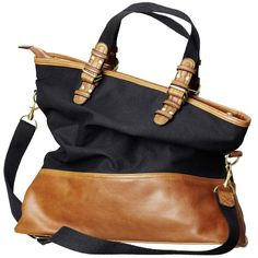 Leather-trimmed Tote