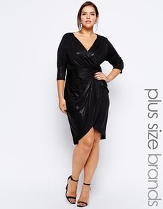 Little Mistress Wrap Front Dress love the style not crazy about the shine of the fabric.