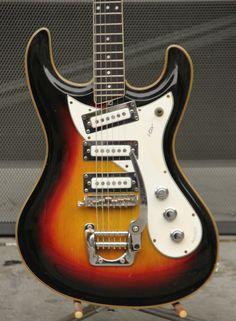 1966 Vox Bulldog Vintage Electric Guitar Mosrite Style Solidbody