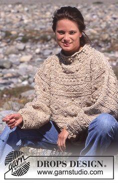 Sweater i Alaska-Tweed med struktur