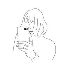 yuribo イラストさんはInstagramを利用しています:「✐☡ . #スマホガール 第2弾🤳🏻 今回はボブヘアの女の子です。 . こちらのイラストは自由に使用ok♡ ※他の作品は似顔絵のため使用不可です。 . ∴‥∵‥∴‥∵‥∴‥∴‥∵‥∴‥∵‥∴‥∴‥∵ 𖤘 My hash tag #お絵描き屋さん…」 Pen Sketch, Sketches, Neko, Instagram Highlight Icons, Pretty Art, Face Art, Easy Drawings, Aesthetic Wallpapers, Art Girl