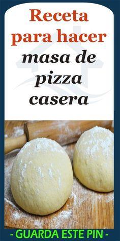 Receta para hacer masa de pizza casera - Race Tutorial and Ideas Pizza Casa, Pizza Recipes, Cooking Recipes, Mousse Au Chocolat Torte, Pizza Sandwich, Pizza Pizza, Vegetarian Pizza, Making Homemade Pizza, Quiches