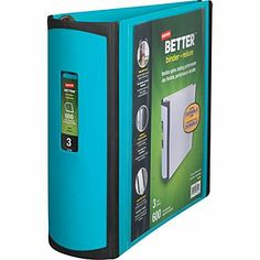So pretty 3in. Staples® Better® View Binder with D-Rings, Teal