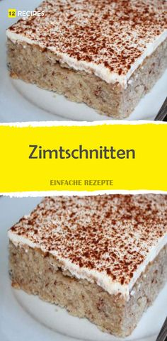 Zimtschnitten - New Site Baking Recipes, Snack Recipes, Snacks, Food To Go, Food And Drink, Cake Receipe, Sweet Bar, Happy Foods, Cakes And More