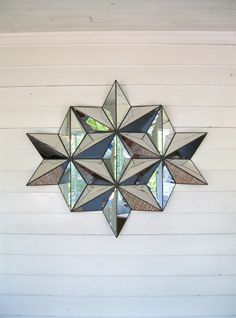 3D star stained glass suncatcher