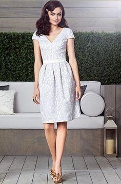49.49$  Watch now - http://vicxz.justgood.pw/vig/item.php?t=qh0clm9935 - Dessy 2902......Cocktail Length Satin Lace Dress.....Ivory...Skyline....Sz 14 49.49$