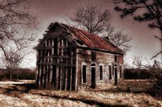 """Homestead"" by Charlie Bookout - 2008 / digital photography  An abandoned farmhouse near Eureka Springs."