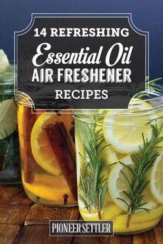 14 Refreshing Homemade Essential Oil Air Fresheners | Learn How To Make Homemade Natural Scent For A Relaxing And Healthy Home by Pioneer Settler at http://pioneersettler.com/refreshing-homemade-essential-oil-air-fresheners/