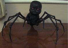 Doll makeovers on Halloween Forum. This spider doll is creepy!