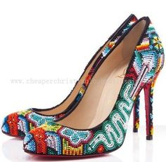 Christian Louboutin Mexibeads 100mm Satin Pumps Multicolor NF14