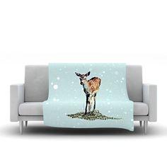 "Monika Strigel ""Fawn"" Fleece Throw Blanket"